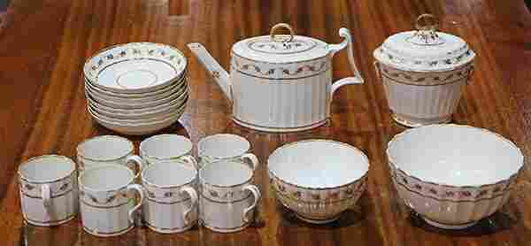 (Lot of 18) Royal Crown Derby porcelain tea service