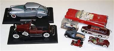 (Lot of 8) Toy model cars, including a red Eldorado
