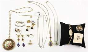 Collection of multi-stone, gold, gold-filled and silver