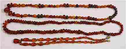 (lot of 3) Collection of amber necklaces