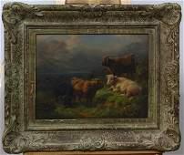 European School 20th century Cattle in the