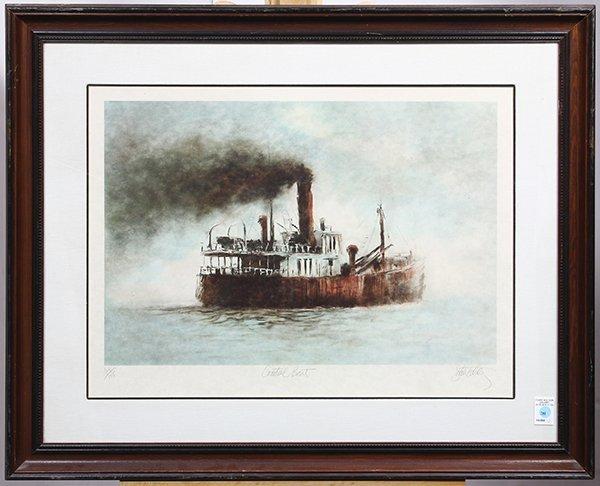 Print, John Kelly, Coastal Boat