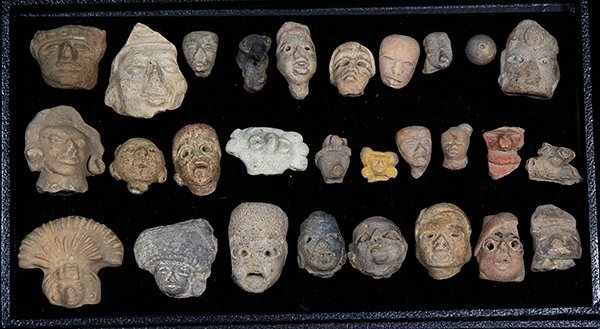 (lot of 45) Collection of Pre-Columbian terracotta head - 2