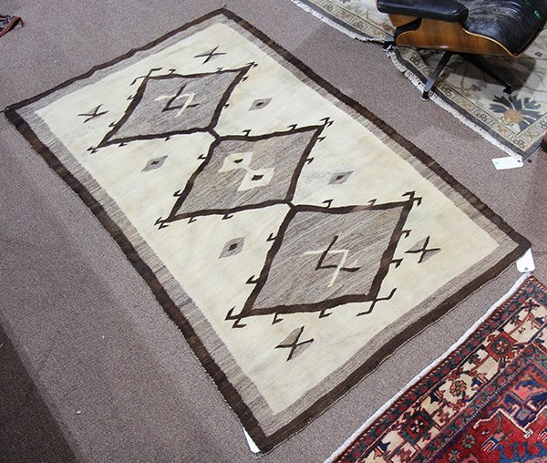 Navajo Crystal Trading Post rug attributed to J