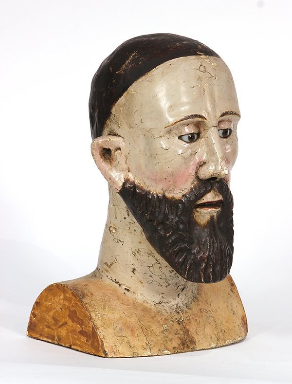 Spanish Colonial, Mexican Santos bust, 19th century, - 2