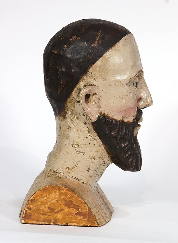 Spanish Colonial, Mexican Santos bust, 19th century, - 3
