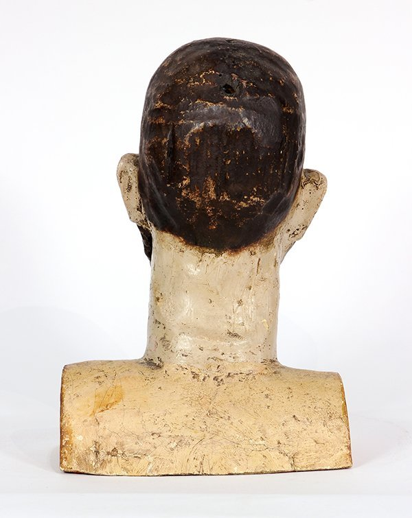 Spanish Colonial, Mexican Santos bust, 19th century, - 4