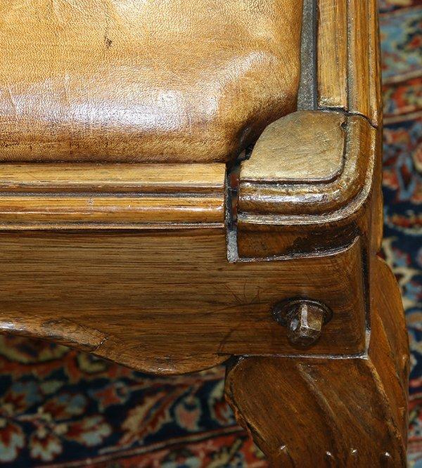 Pair of English oak footstools - 2