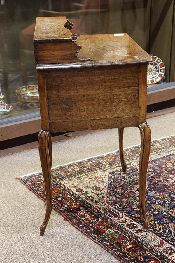 English oak diminutive ladies writing desk circa 1870 - 4