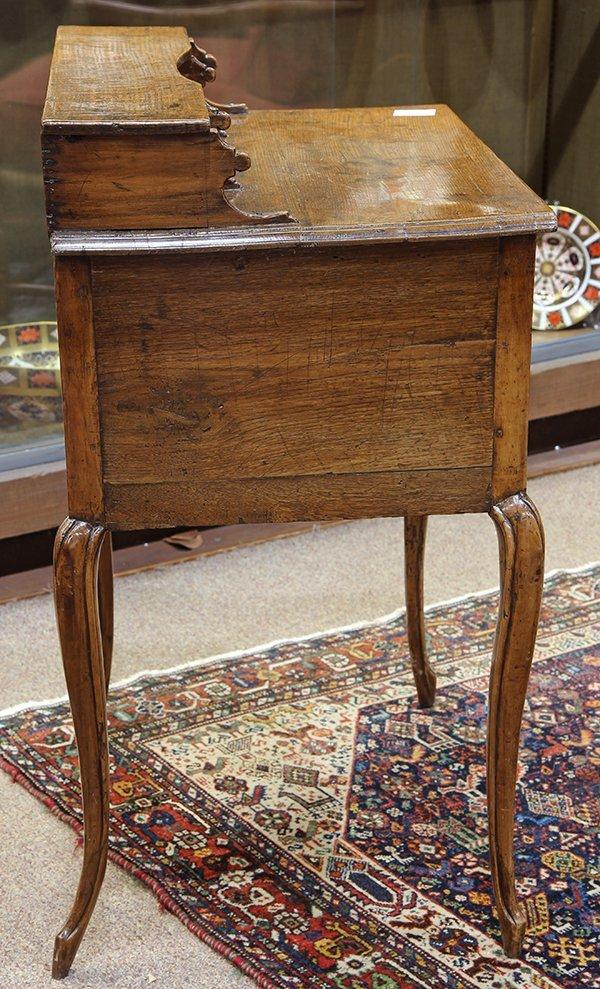 English oak diminutive ladies writing desk circa 1870 - 5
