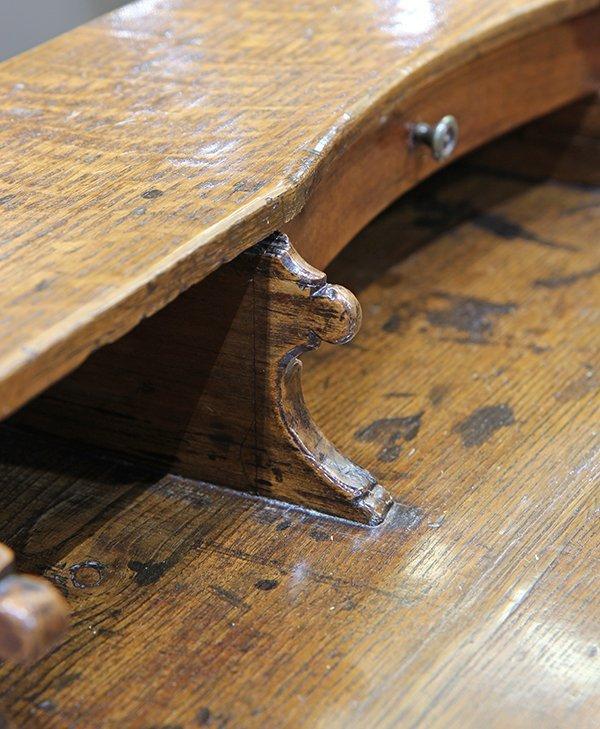 English oak diminutive ladies writing desk circa 1870 - 8