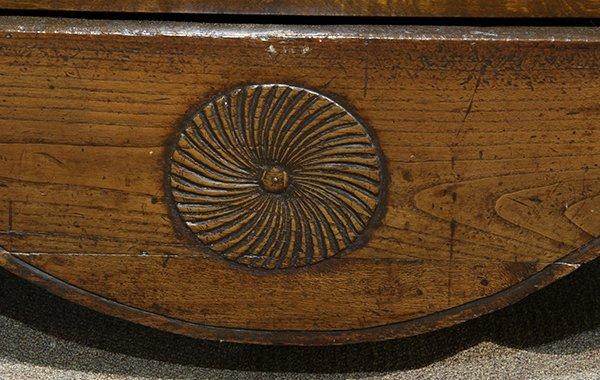 French Provincial two door linen press circa 1800 - 4