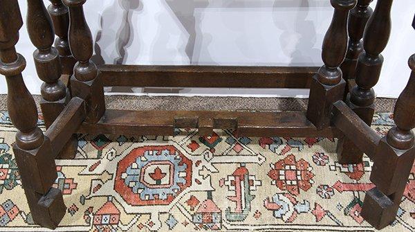 English oak gate leg table, 18th century, having a - 5