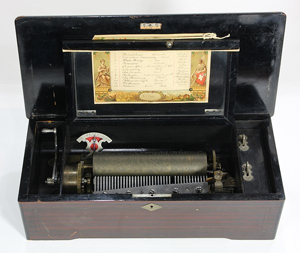 Swiss cylinder music box