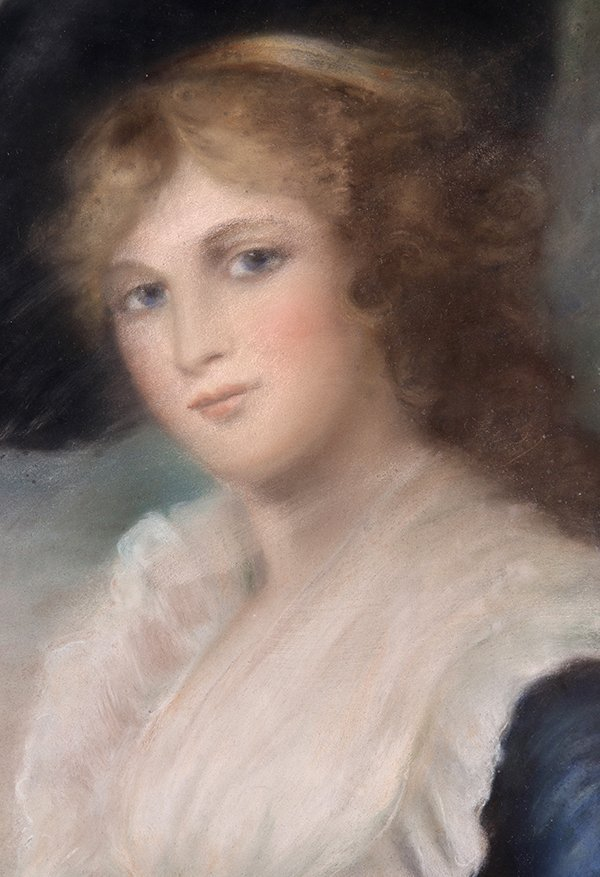 Drawing, Portrait of a Lady in Blue - 3