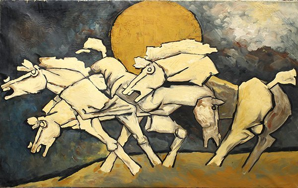 Painting, Attributed to Maqbool Fida Husain