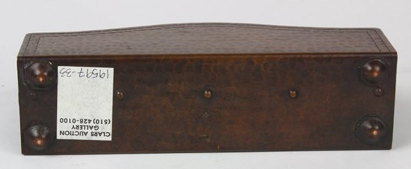 Dirk Van Erp Studios hammered copper letter holder - 4