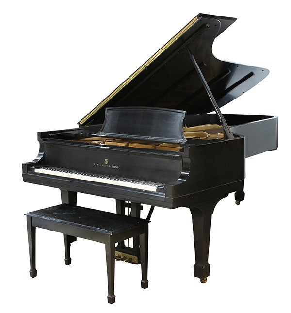 Steinway and Sons New York Model D concert grand piano,