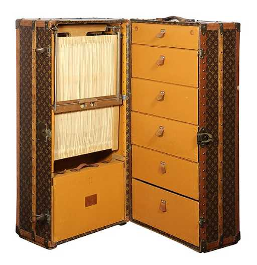 d1851f13bcb1 Louis Vuitton luxury wardrobe steamer trunk