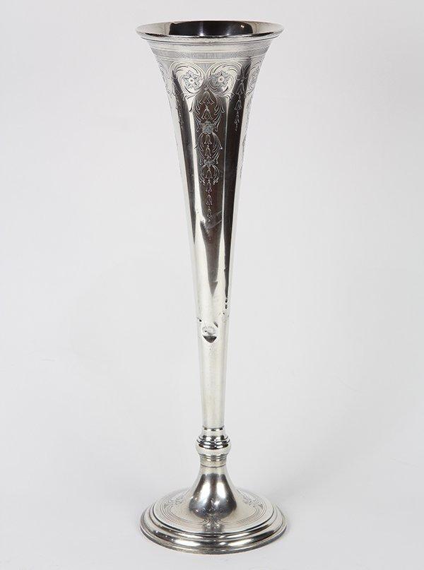 Tiffany & Company sterling silver trumpet vase,