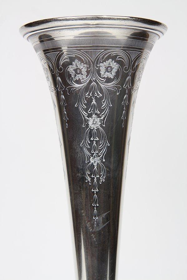 Tiffany & Company sterling silver trumpet vase, - 2