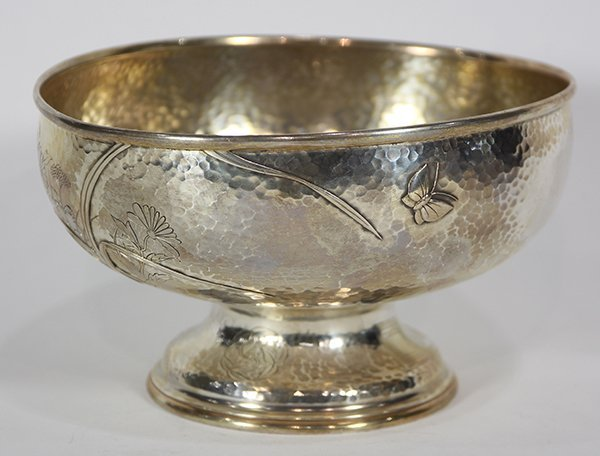 Tiffany & Company sterling silver pedestal bowl, the