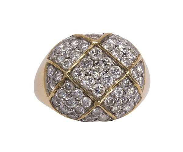Diamond and 18k yellow gold ring