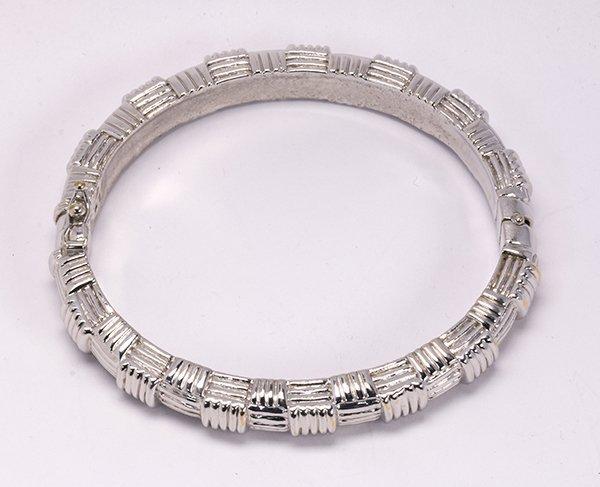 18k white gold bangle bracelet - 2