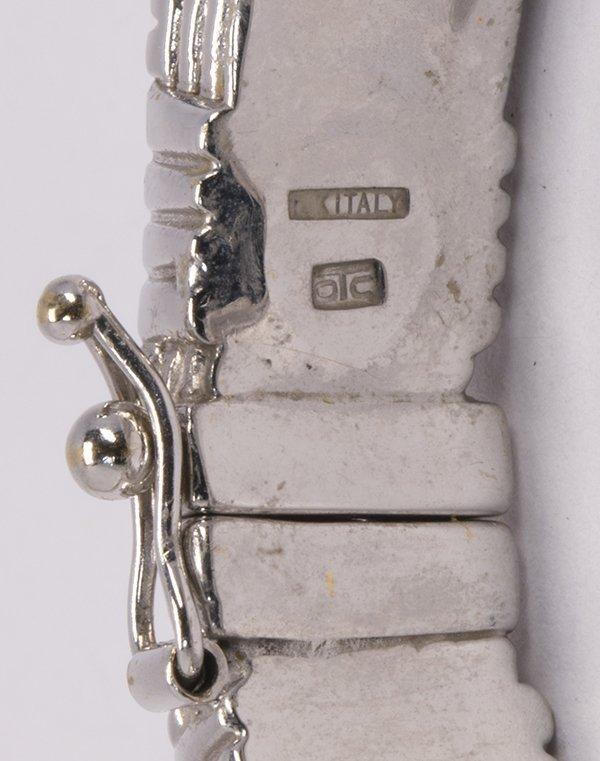 18k white gold bangle bracelet - 3