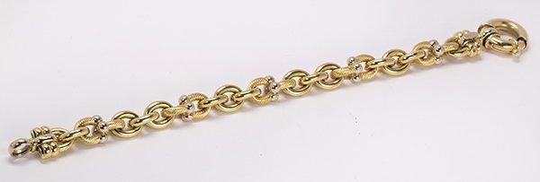 18k two tone gold link bracelet - 2