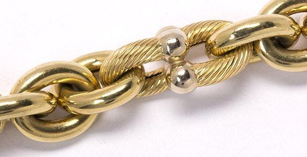 18k two tone gold link bracelet - 3