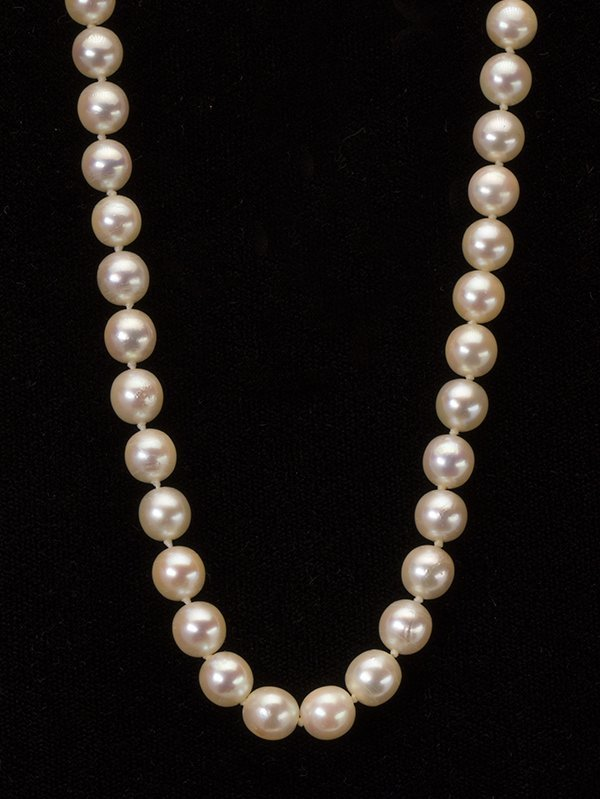 Cultured pearl, diamond, jadeite and 14k yellow gold - 2