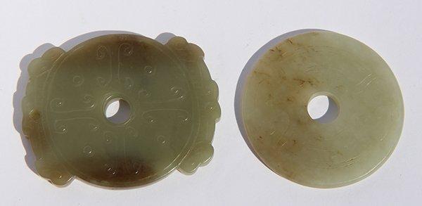 Two Chinese Jade Bi-Disc