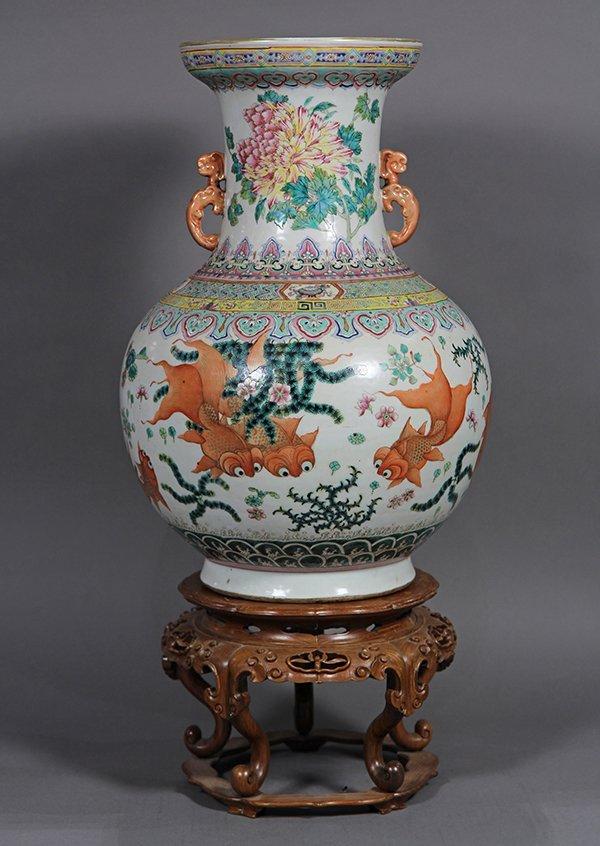 Chinese Porcelain Vase, Goldfish