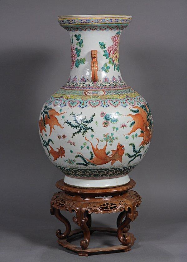 Chinese Porcelain Vase, Goldfish - 4