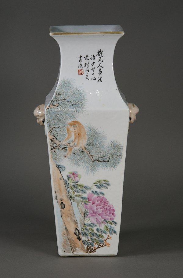 Chinese Porcelain Square Vase - 4