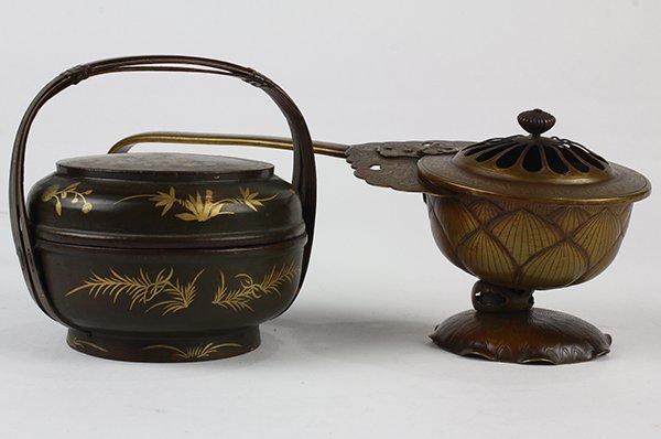 Japanese Buddhist Ceremonial Ekoro Censer, Circular