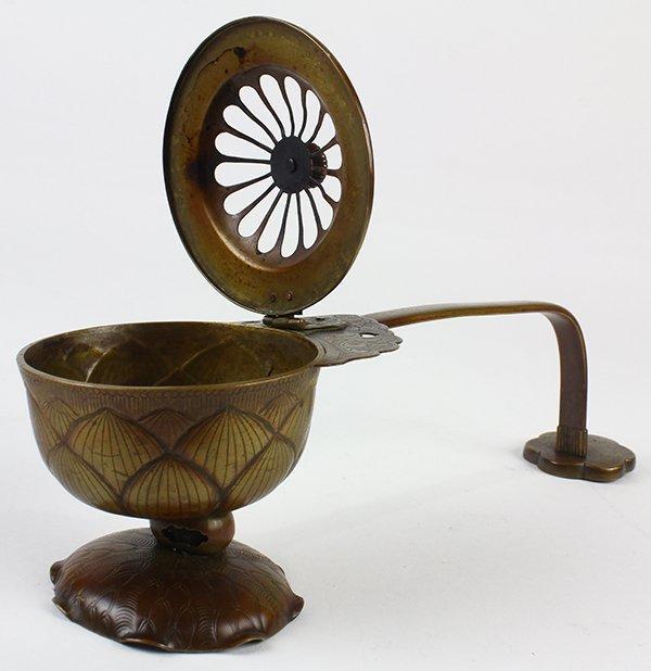 Japanese Buddhist Ceremonial Ekoro Censer, Circular - 3