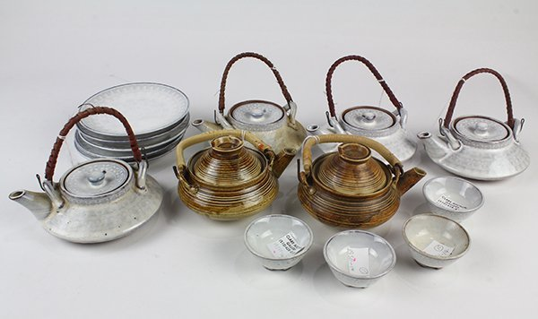 Japanese Ceramic Sake Servers/Teapots, Cups, Dishes