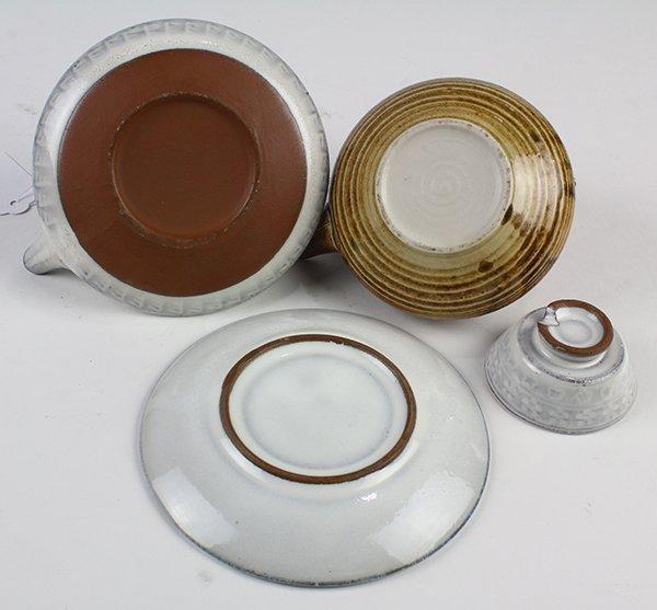 Japanese Ceramic Sake Servers/Teapots, Cups, Dishes - 3