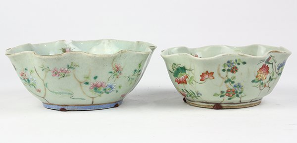 Two Chinese Leaf Form Bowls - 3