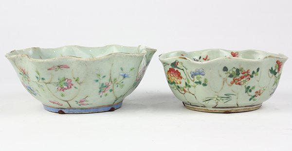 Two Chinese Leaf Form Bowls - 4