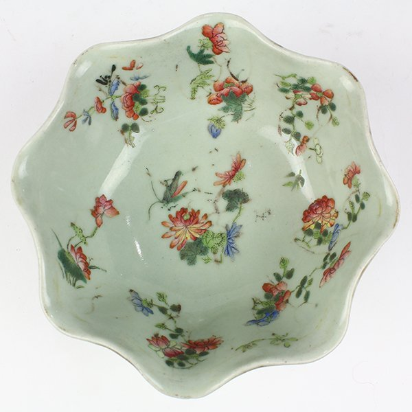 Two Chinese Leaf Form Bowls - 7