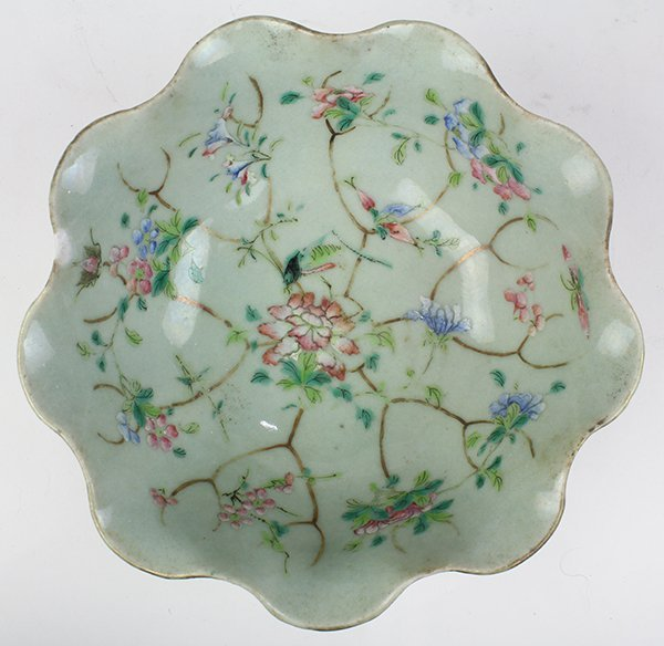 Two Chinese Leaf Form Bowls - 8
