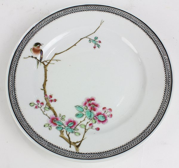 Two Chinese Plates, Bird/Flowers - 2