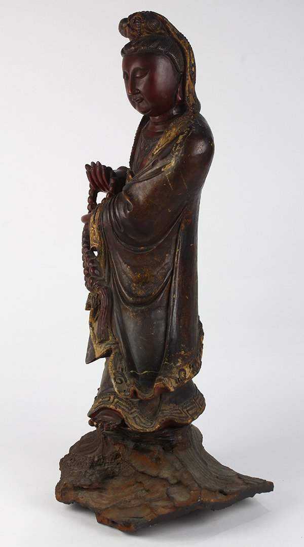 Chinese Wood Figure of Guanyin - 2