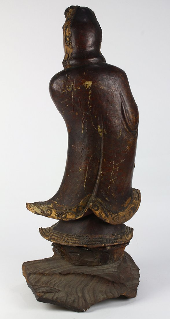 Chinese Wood Figure of Guanyin - 3