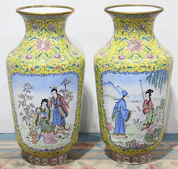 Two Chinese Enamel Vases - 3