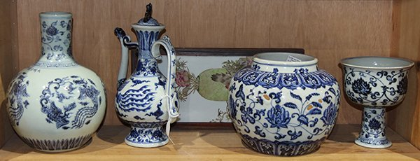 Chinese Blue and White Porcelain Items