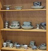 Three Shelves of Chinese Porcelains